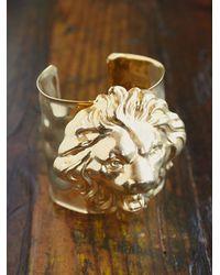 Free People | Metallic Vintage Lion Cuff Bracelet | Lyst