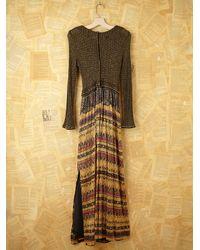 Free People | Green Vintage Metallic Knit Dress | Lyst