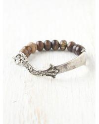 Free People | Metallic Balthazar Scroll Bracelet | Lyst