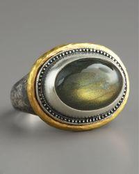 Gurhan Metallic Labradorite Gauntlet Ring