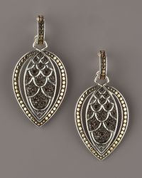 John Hardy | Metallic Naga Smoky Quartz Marquise Drop Earrings | Lyst