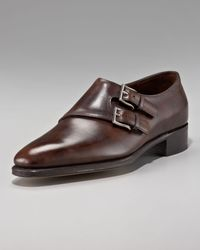 John Lobb | Brown Chapel Double Monk-strap Shoe | Lyst