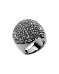 Michael Kors | Metallic Pave Dome Ring | Lyst