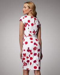 MILLY Multicolor Pansy Print Slim Haley Dress