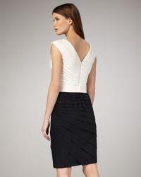 Tadashi Shoji - Black Colorblock Cap-sleeve Cocktail Dress - Lyst