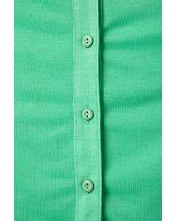 TOPSHOP - Green Knot Front Shirt - Lyst