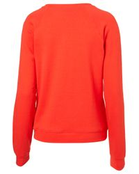 TOPSHOP - Red Amore Sweat - Lyst