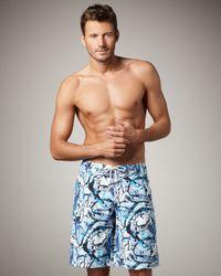 Vilebrequin   Blue Ocean Turtle Boardshorts for Men   Lyst
