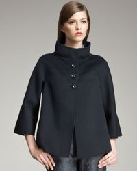 Armani | Blue Cape Coat | Lyst