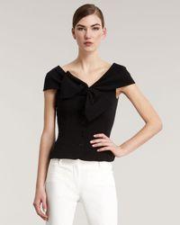 Dior Black Bow-front Cap-sleeve Jacket