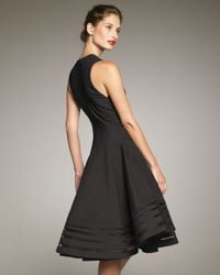 Donna Karan | Black Swingy Dress | Lyst