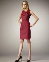 Elie Tahari Purple Lexie Sheath Dress