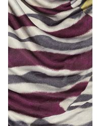 Emilio Pucci - Multicolor Satin-jersey Zebra-print Dress - Lyst