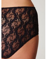 Free People - Blue Lace High Waist Panty - Lyst