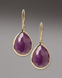 Ippolita - Purple Ruby Teardrop Earrings - Lyst