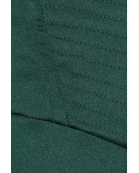Just Cavalli | Green Stretch-satin Bustier Dress | Lyst