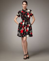 kate spade new york | Black Nellie Floral-print Dress | Lyst