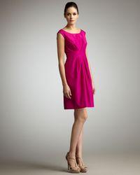 kate spade new york | Pink Deanna Pleated Silk Dress | Lyst