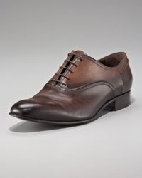 Lanvin - Brown Burnished Oxford - Lyst