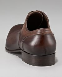 Lanvin | Brown Burnished Oxford | Lyst