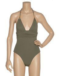Melissa Odabash Green Naples Halterneck Swimsuit