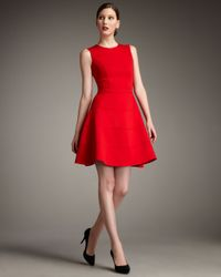 Neiman Marcus | Red Swingy Ponte Dress | Lyst