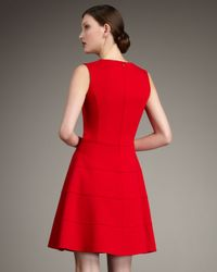Neiman Marcus | Red Swingy Ponte Dress | Lyst