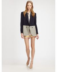 Stella McCartney | Gray Two Tone Jacket | Lyst