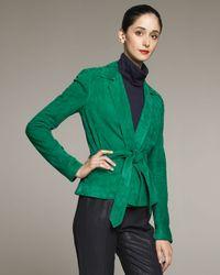 Ralph Lauren Collection Green Melinda Suede Jacket