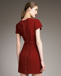 Roland Mouret Red Nora Tunic-top-dress