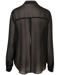 TOPSHOP | Black Slit Back Chiffon Shirt | Lyst