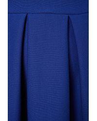 TOPSHOP Blue Structured Skater Dress