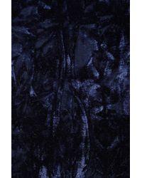 TOPSHOP Blue Navy Velvet Kimono Jacket