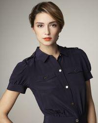 Tory Burch - Blue Gennifer Shirtdress - Lyst