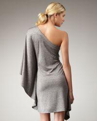 Trina Turk Gray Rapture One-shoulder Dress