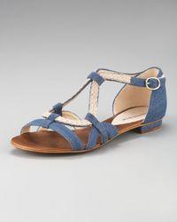 Alexandre Birman | Blue Denim/rope Flat Sandal | Lyst