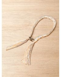 Alyssa Norton | Metallic Alyssa Norton Sterling Silver and Braided Silk Bracelet | Lyst