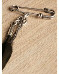 Ann Demeulemeester Black Feather Pin