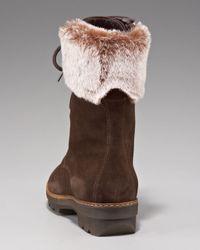 Aquatalia   Brown Weatherproof Faux-fur-cuff Boot   Lyst