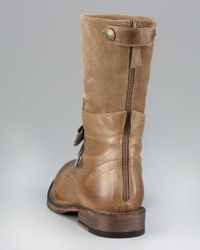 Brunello Cucinelli - Brown Mid-calf Lace-up Boot - Lyst