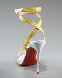 Christian Louboutin - White Measuring Tape Sandal - Lyst
