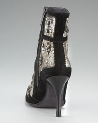 Donald J Pliner Black Sequined Ankle Boot