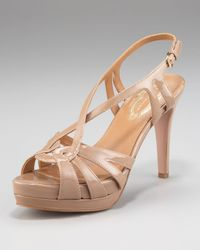 Elie Tahari | Natural Chaplin Platform Sandal, Maple | Lyst