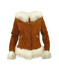 FORZIERI | Brown Mongolian Fur-trim Shearling Hooded Jacket | Lyst
