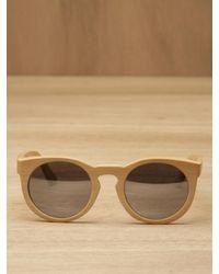 Illesteva | Natural Leonard Wood Sunglasses | Lyst