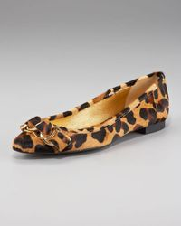 kate spade new york | Multicolor Leopard-print Calf-hair Flat | Lyst