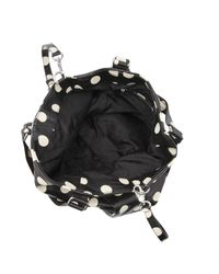 Marc By Marc Jacobs Black Polkadot Snakeskin Fran Tote Bag