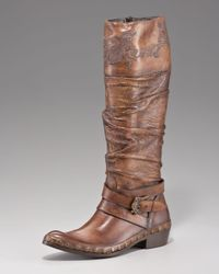 Mark Nason - Brown Ruched Harness Boot - Lyst