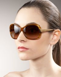 Oliver Peoples Brown Matine Plastic Sunglasses