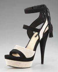 Rachel Zoe | Black Back-tassel Platform Sandal | Lyst